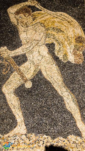 Ravenna mosaic of naked man