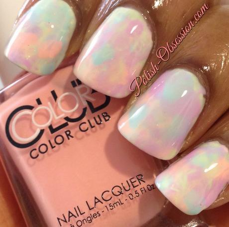 Twinsie Tuesday - Watercolor Manicure
