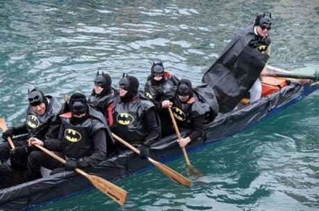 batmen in a boat