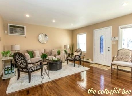 staged living room in Elmont Long Island
