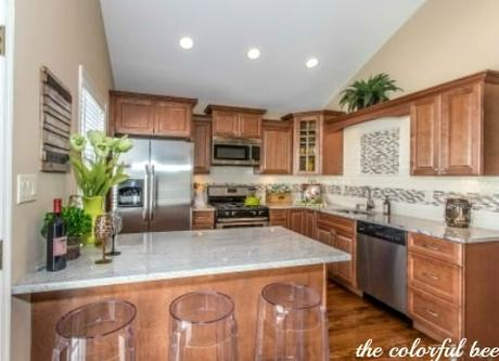 a staged kitchen in Elmont NY Long Island