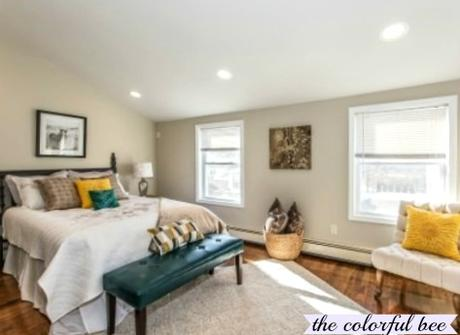 a staged Master Bedroom on Long Island (Elmont NY)