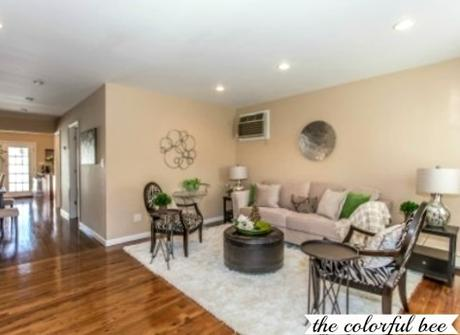 home staging on Long Island; staged living room