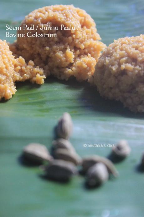 Seem Paal / Junnu Paalu / Cow Colostrum Sweet Recipe