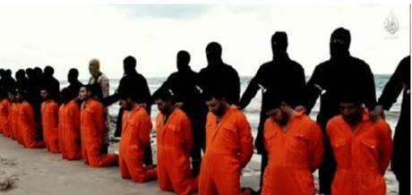 ISIS jihadists about to behead captive Coptic Christians