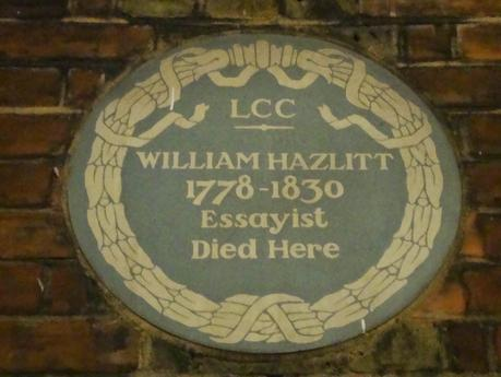#London Plaque Tiddlywinks No.15: William Hazlitt