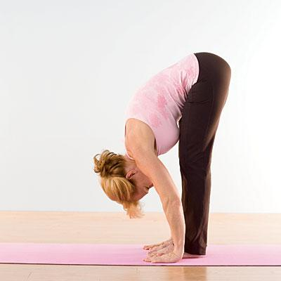 Uttanasana yoga - standing forward bend