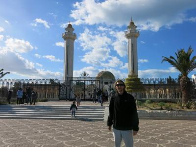 Outside the Habib Bourguiba shrine