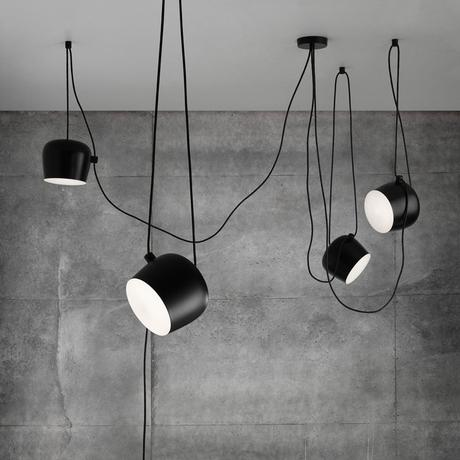 Innovative pendant light with exposed cable and adjustable shade