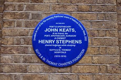 #London Plaque Tiddlywinks No.16: John Keats