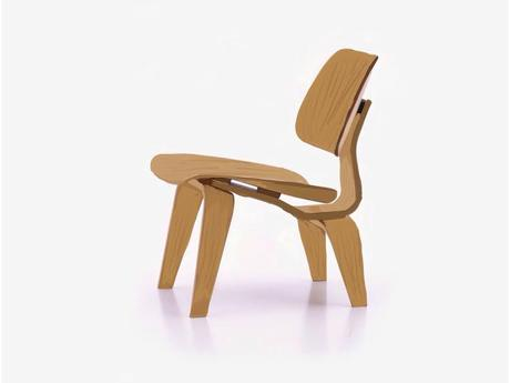 Lounge chair wood by Charles and Ray Eames