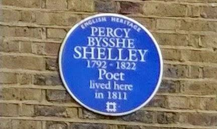 #London Plaque Tiddlywinks No.17: Percy Byshe Shelley