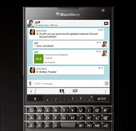 Blackberry Passport camera good for typing