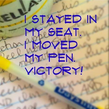 Stayed and moved my pen victory