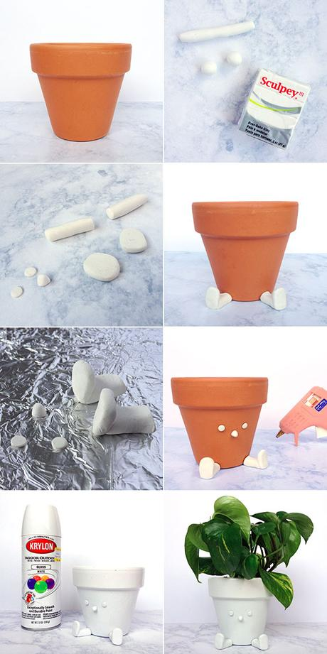DIY quirky sitting flower pot steps