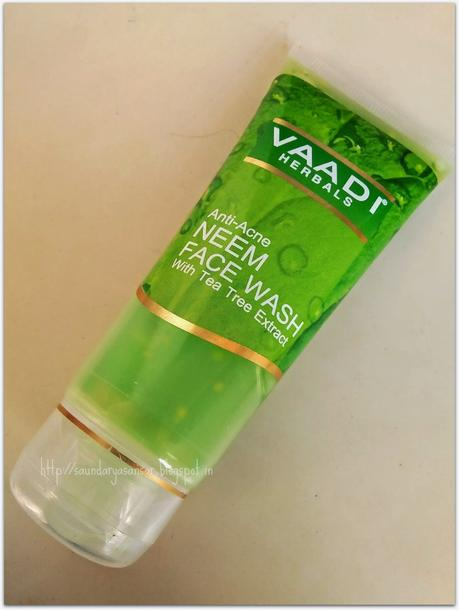 Vaadi Herbals Anti Acne Neem Face Wash with Tea Tree extracts- Review