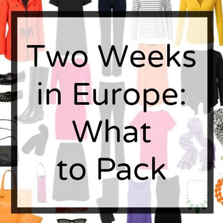 Ask Allie: Two Weeks in Europe, What to Pack?