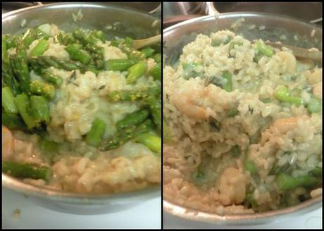 Shrimp asparagus risotto-collage5