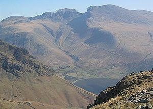 English: Scafells, mountains in the English La...