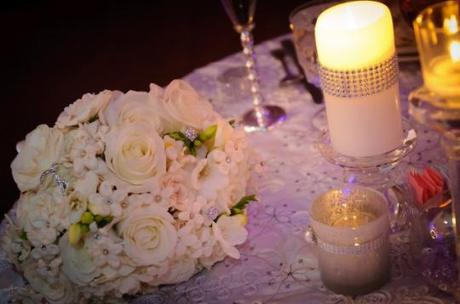 Crystals and Bling add Sparkle to a Winter Wedding