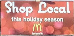 What is McDonald's up to here?