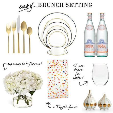 EASY BRUNCH // Setting + Menu