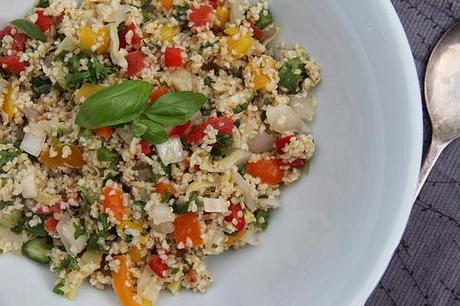 Whole Grain Quinoa Tabouleh With Peppers