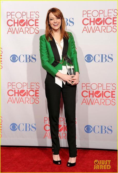 Emma Stone people's choice awards, 2012, green, gucci