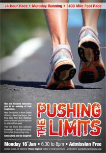 Pushing the Limits – A Talk At Run and Become London 16-01-2012