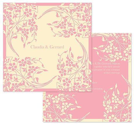 wedding invitation by Wendy Bell Designs