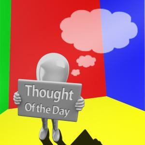 Thought of the Day. Using stock images by Madetobeunique and Gojol23 at DeviantArt.com.