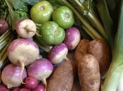 From Market: Turnips, Greens, Leeks Potatoes