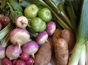 From Market: Turnips, Greens, Leeks Potatoes