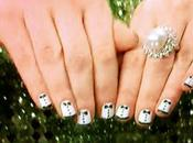 Tuxedo Nails Zooey Deschanel 2012 Golden Globes