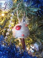 Mushroom Christmas Ornaments Inspired by Twine Balls