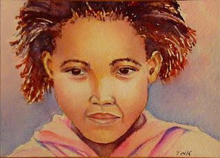 Watercolor Portrait Tutorial - Girl in Pink - Paperblog