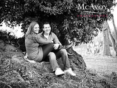 Charlotte and Rob's fields of gold engagement shot