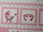 Handmade Welcome Baby Girl Greeting Card with Paper Quilling