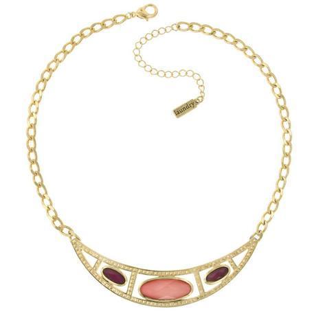 Raspberry & Peach Collar Necklace