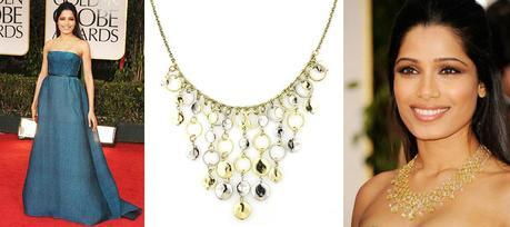 Frida Pinto Fab FindsFab Find Friday: All That Glitters at the Golden Globes