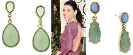 Green Earrings Fab FindFab Find Friday: All That Glitters at the Golden Globes