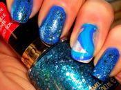 NOTD: 1rst Water Marbling Attempt- Sally Hansen Revlon