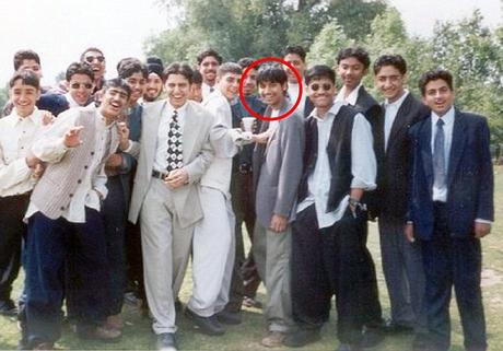 Pictured: The hunt is on for the £26million allegedly pocketed by British trader Navinder Singh Sarao. He is pictured, circled, at his high school prom in 1995