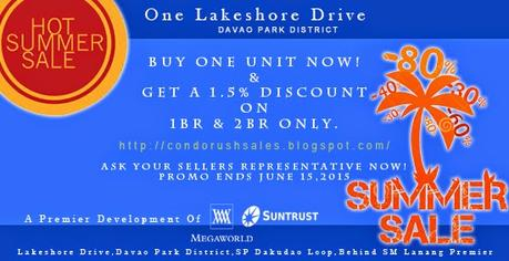 One Lakeshore Drive | Davao Park District Hot Summer Sale Promo