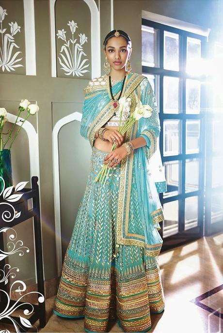 Anita Dongre The Summer Bride - Your Dream Bridal Lehenga In Blue