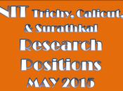 Trichy, Calicut, Surathkal Research Positions 2015