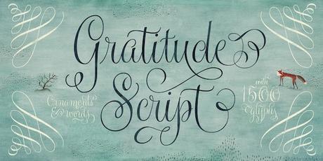 Post image for 35% off New Gratitude Script Font