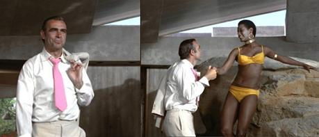 Yes, Bond, it's a woman in a bikini. Now put it back in your pants, because she's probably there to kill you.