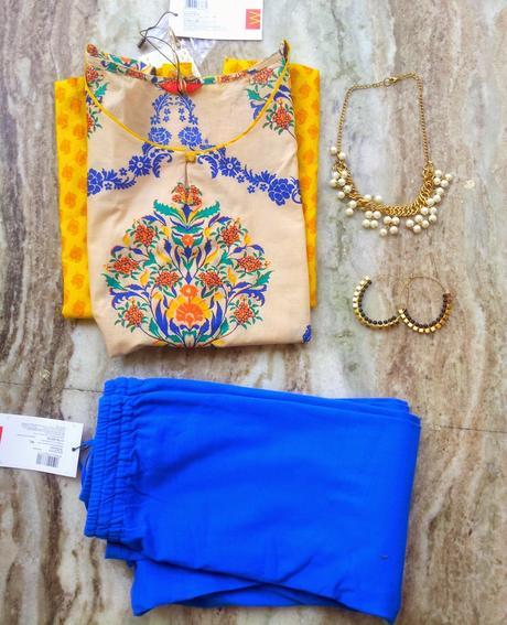 My Mustard Kurta and Blue Leggings From W for Woman Store is Everything This Summer