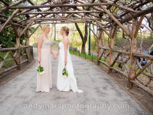 brides central park wedding